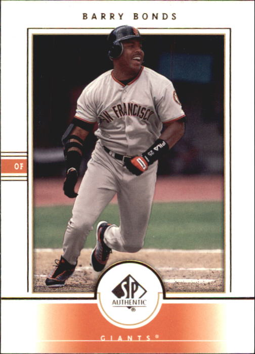 2000 SP Authentic #65 Barry Bonds