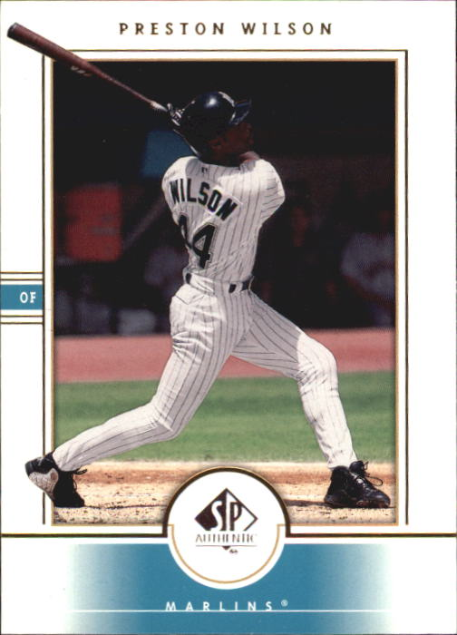 2000 SP Authentic #68 Preston Wilson