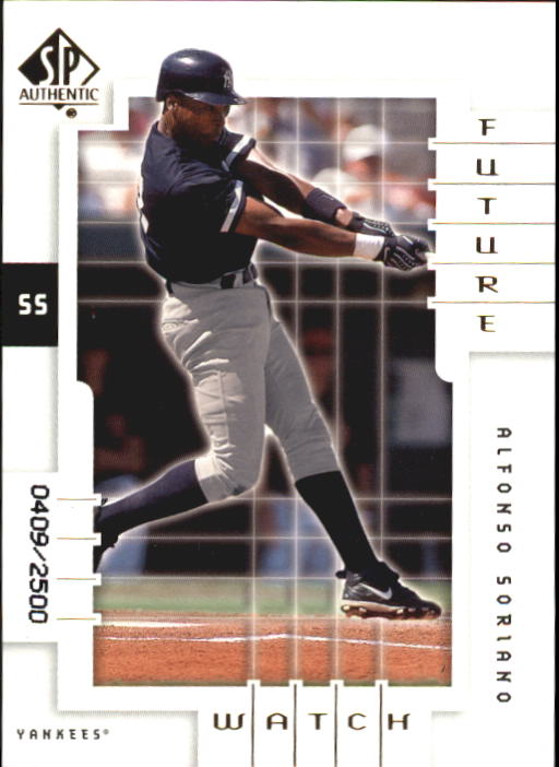 2000 SP Authentic #112 Alfonso Soriano FW