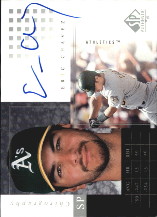 2000 SP Authentic Chirography #EC Eric Chavez