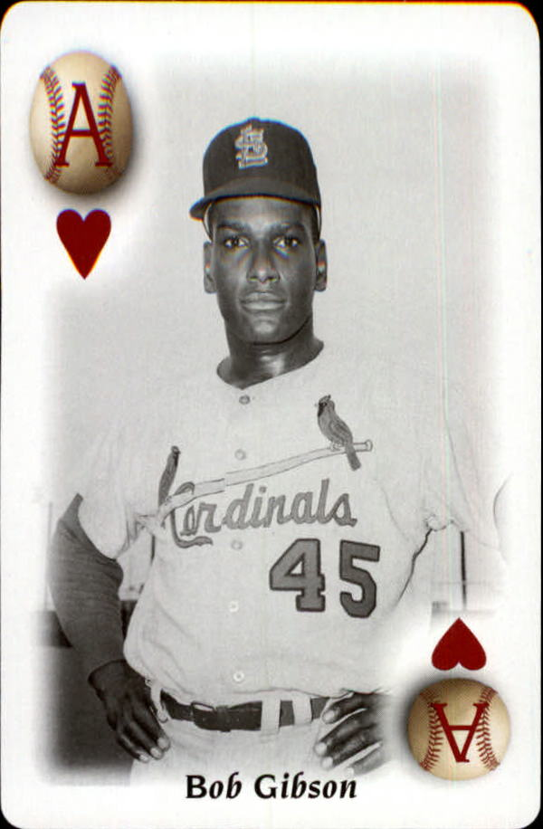 2000 U.S. Playing Card All Century Team #1H Bob Gibson