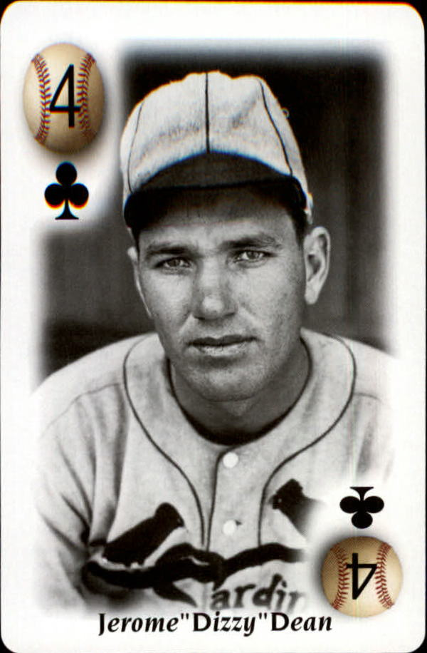 2000 U.S. Playing Card All Century Team #4C Dizzy Dean