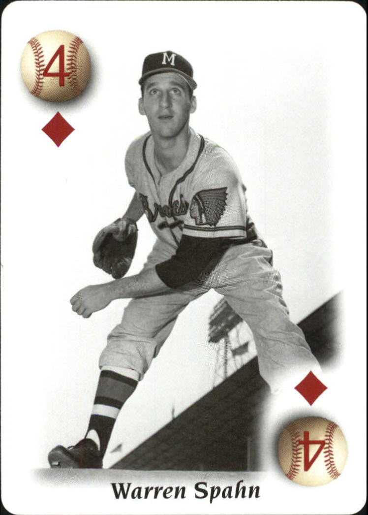 2000 U.S. Playing Card All Century Team #4D Warren Spahn