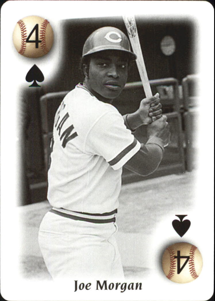 2000 U.S. Playing Card All Century Team #4S Joe Morgan