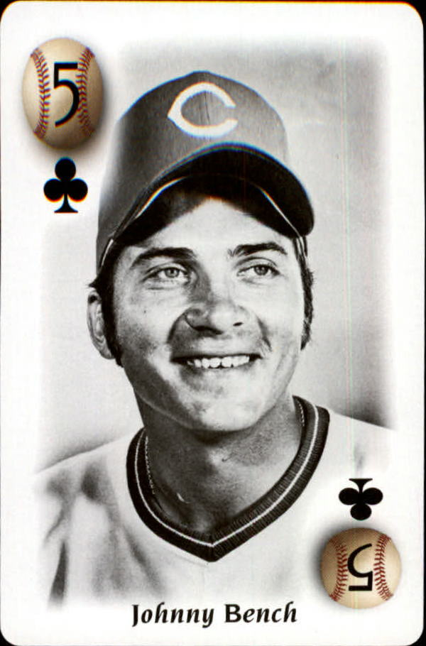 2000 U.S. Playing Card All Century Team #5C Johnny Bench