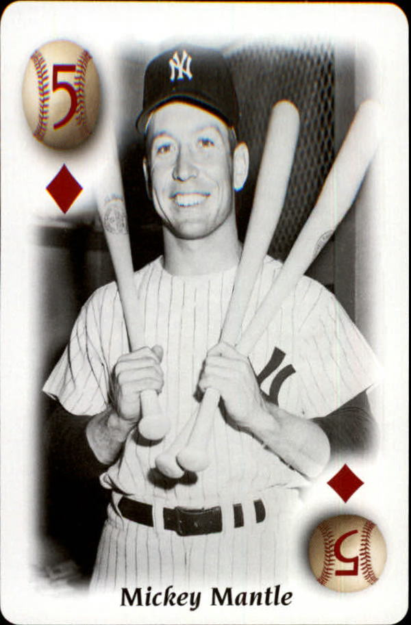 2000 U.S. Playing Card All Century Team #5D Mickey Mantle