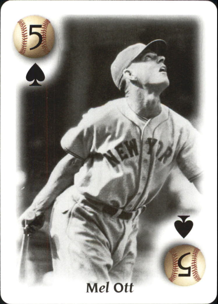 2000 U.S. Playing Card All Century Team #5S Mel Ott