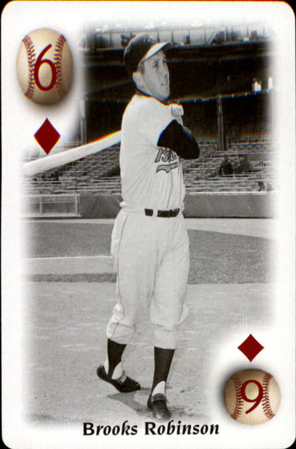 2000 U.S. Playing Card All Century Team #6D Brooks Robinson