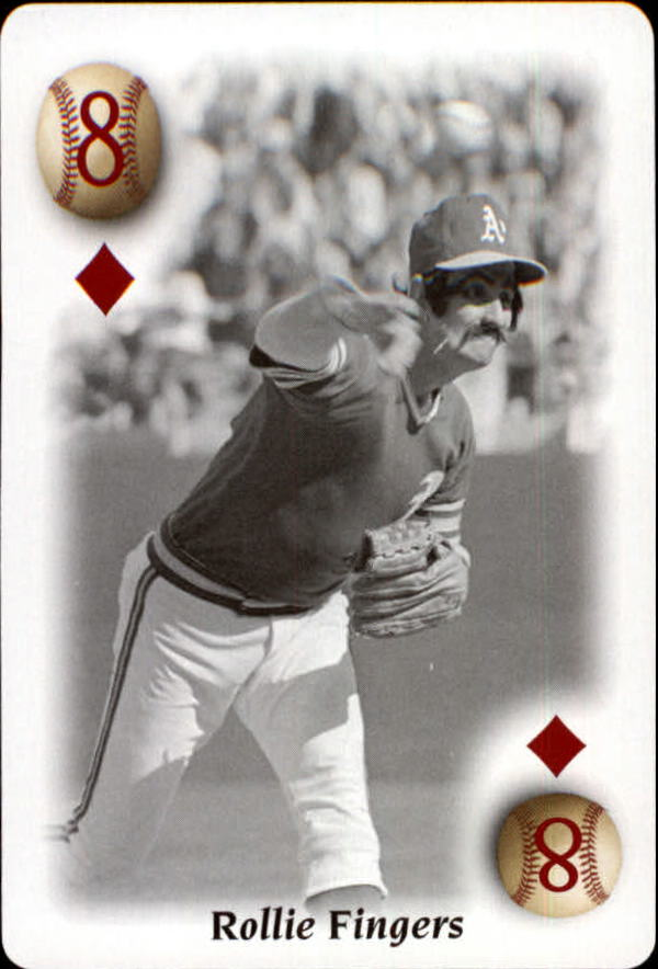 2000 U.S. Playing Card All Century Team #8D Rollie Fingers