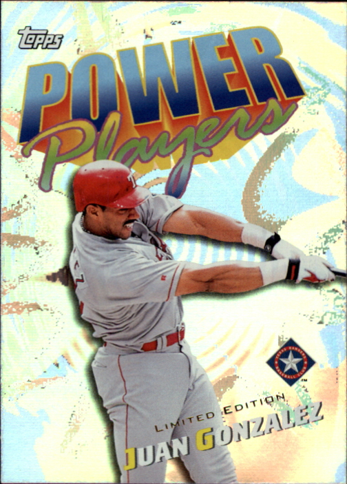 2000 Topps Limited Power Players #P1 Juan Gonzalez
