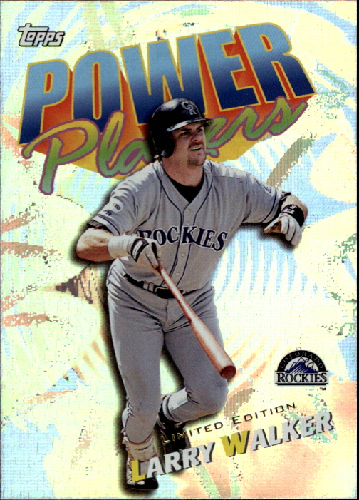 2000 Topps Limited Power Players #P7 Larry Walker