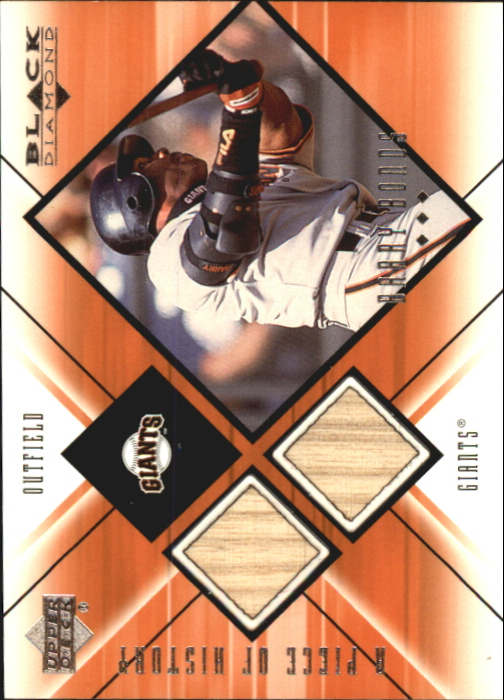 2000 Black Diamond A Piece of History Double #BB Barry Bonds