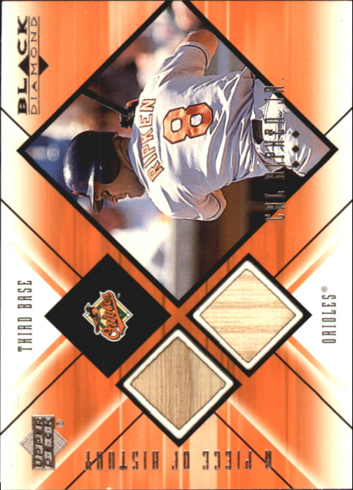 2000 Black Diamond A Piece of History Double #CAL Cal Ripken