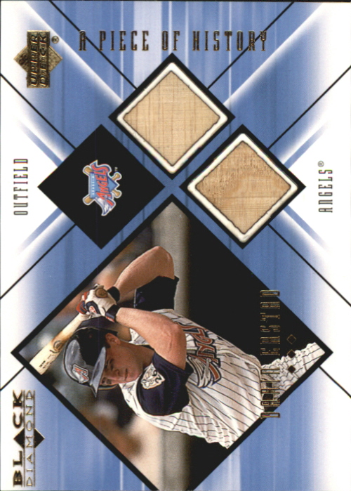 2000 Black Diamond A Piece of History Double #DE Darin Erstad
