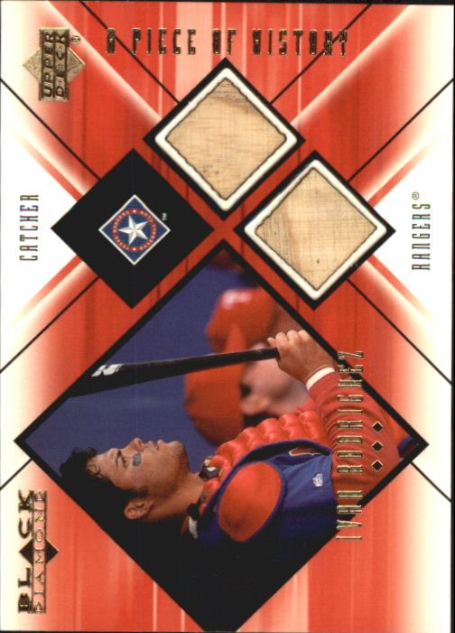 2000 Black Diamond A Piece of History Double #IR Ivan Rodriguez