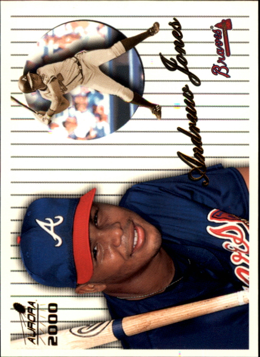 2000 Aurora Pinstripes #11 Andruw Jones
