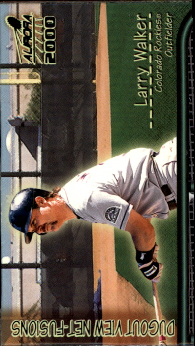 2000 Aurora Dugout View Net Fusions #7 Larry Walker
