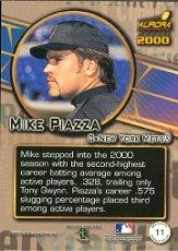 2000 Aurora Pennant Fever #11 Mike Piazza back image