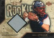 2000 Black Diamond Rookie Edition #121 Brad Cresse JSY RC