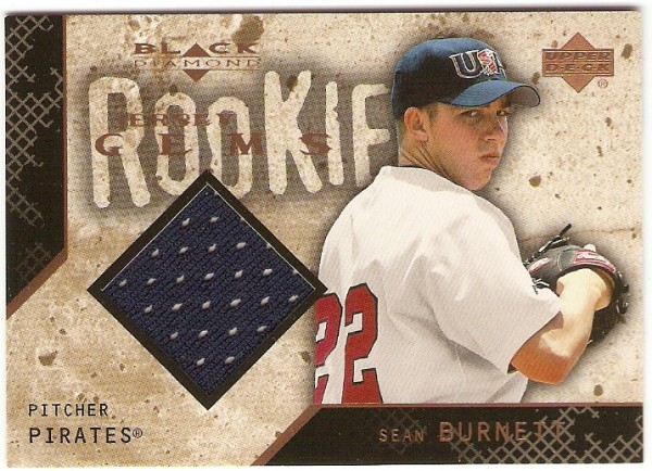 2000 Black Diamond Rookie Edition #126 Sean Burnett JSY RC