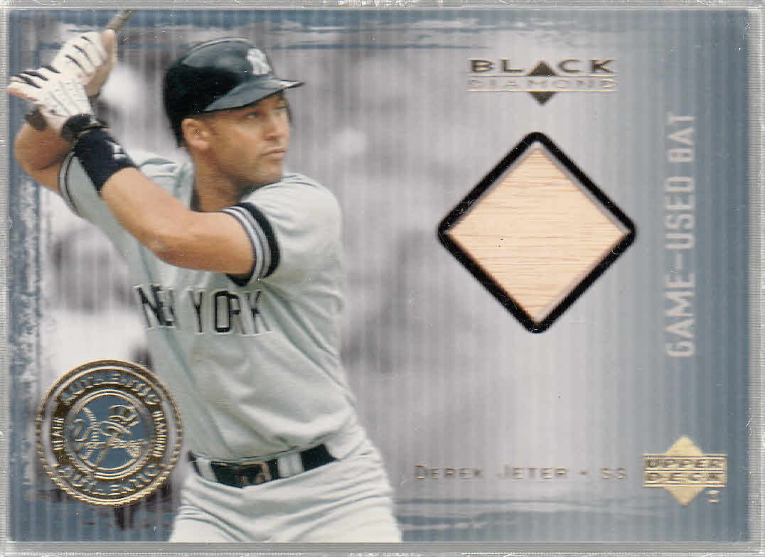 2000 Black Diamond Rookie Edition Authentic Pinstripes #APB Derek Jeter Bat/1000