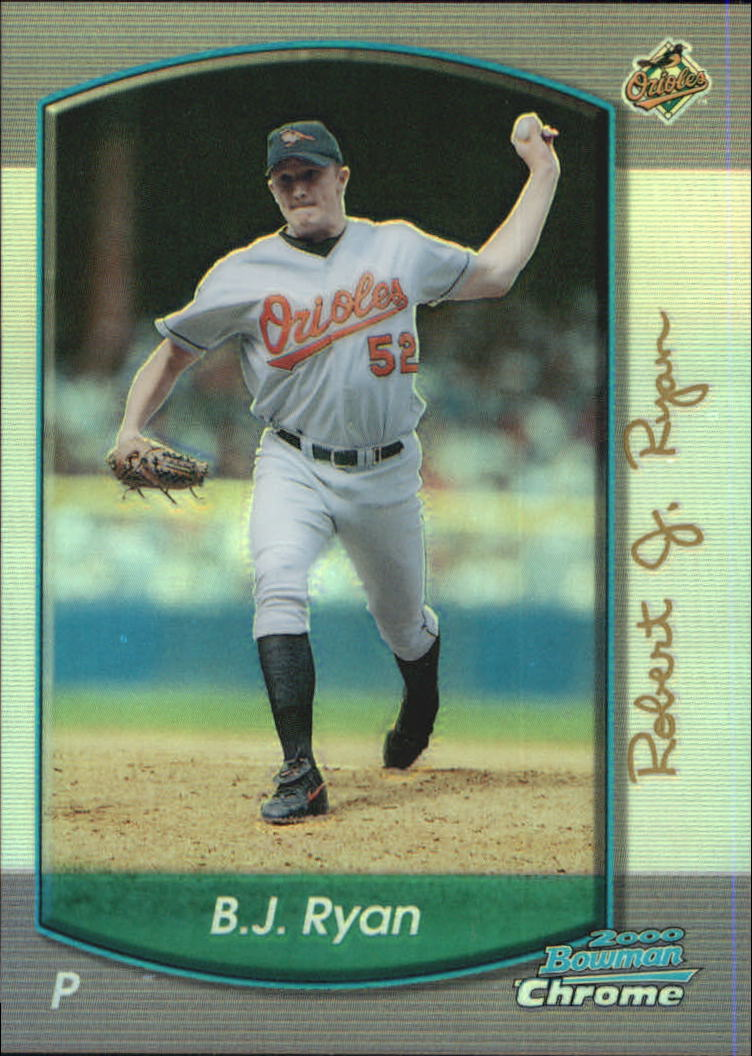 2000 Bowman Chrome Refractors #295 B.J. Ryan
