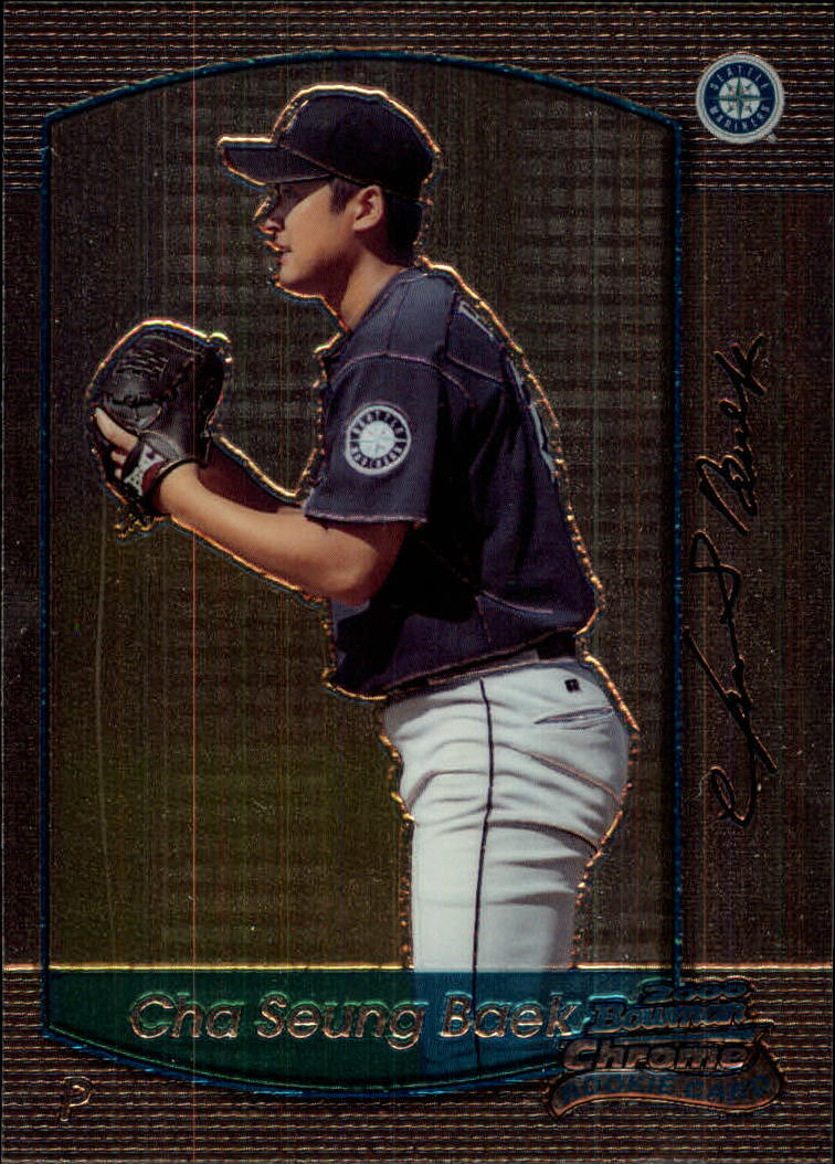2000 Bowman Chrome Draft #30 Cha Sueng Baek RC