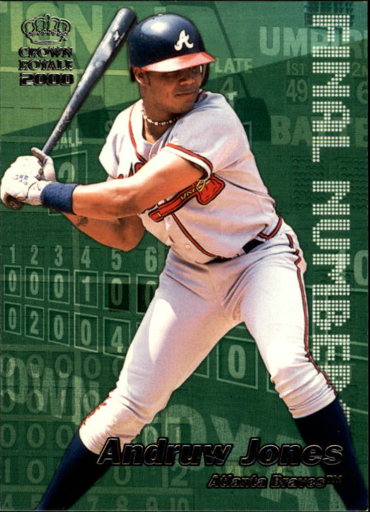 2000 Crown Royale Final Numbers #2 Andruw Jones