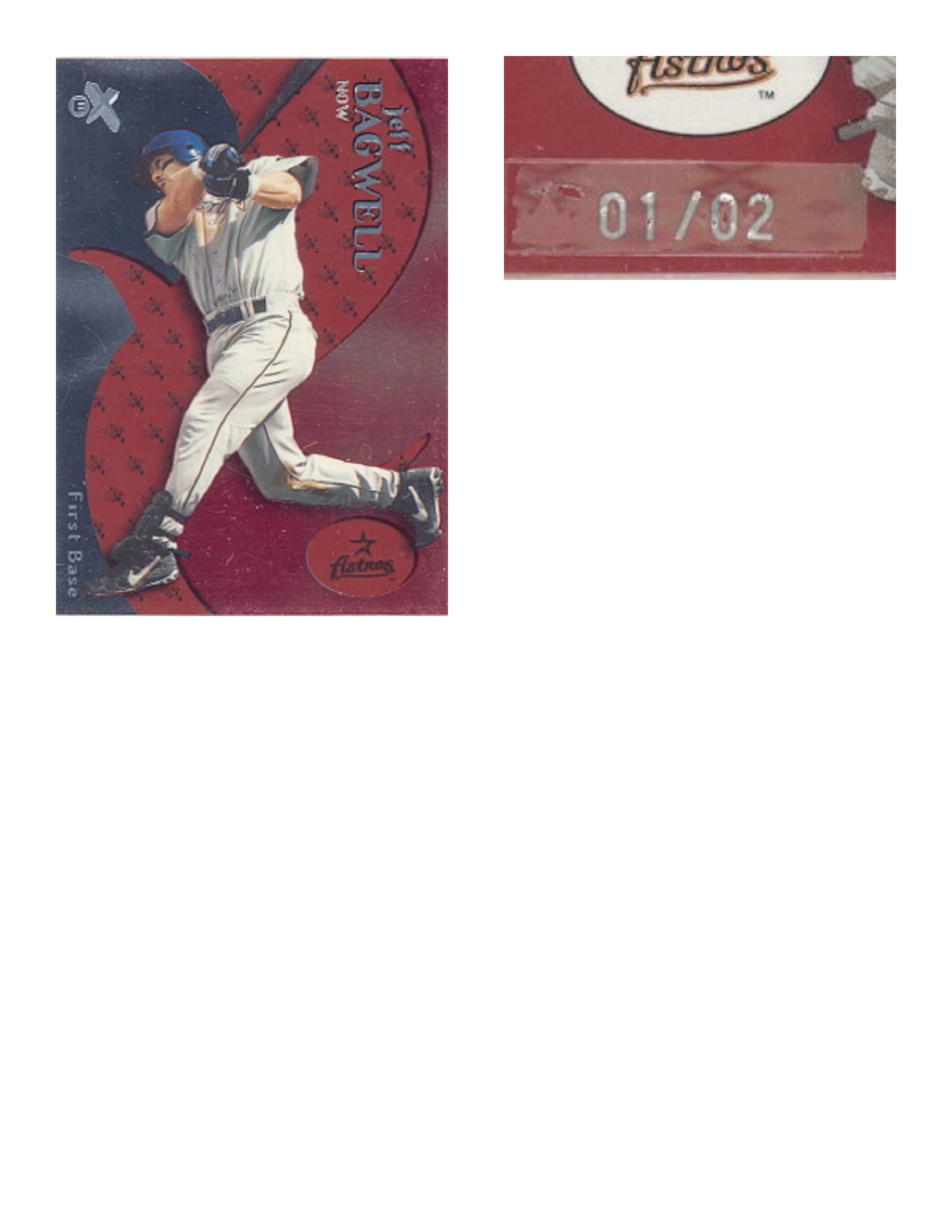 2000 E-X Essential Credentials Now #2 Jeff Bagwell/2