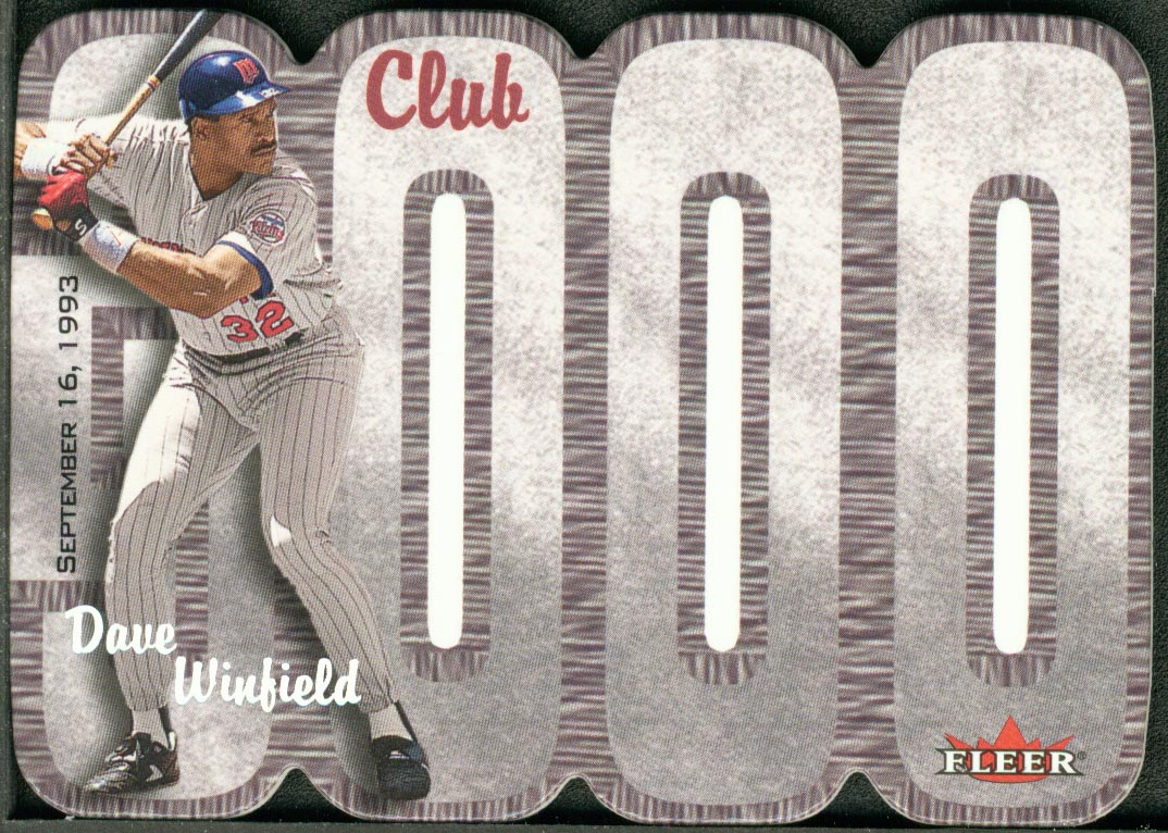 2000 Fleer Club 3000 #DW Dave Winfield MYST