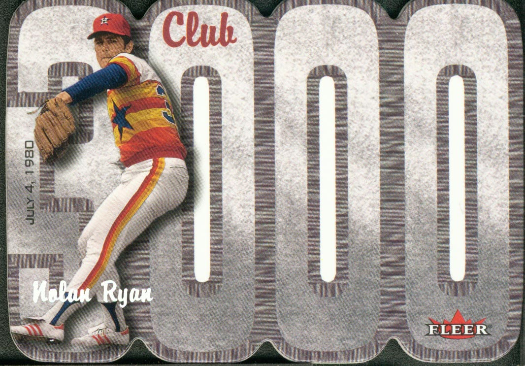 2000 Fleer Club 3000 #NR Nolan Ryan SHOW