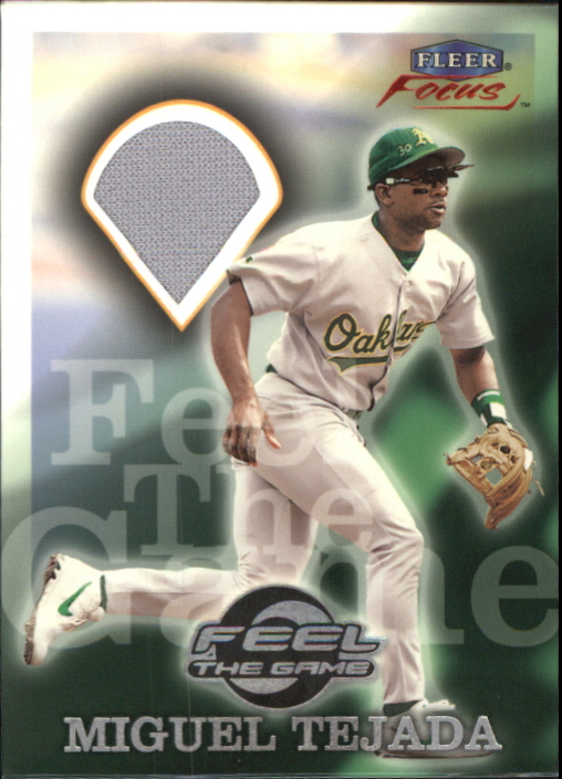 2000 Fleer Focus Feel the Game #10 Miguel Tejada