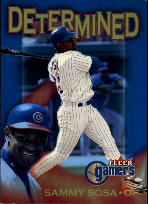 2000 Fleer Gamers Determined #D8 Sammy Sosa