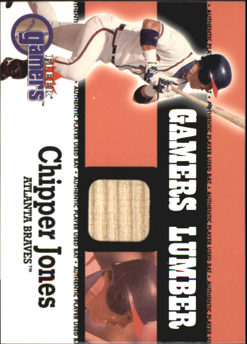 2000 Fleer Gamers Lumber #25 Chipper Jones