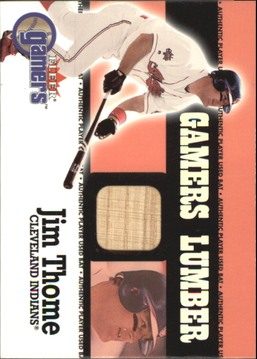 2000 Fleer Gamers Lumber #44 Jim Thome