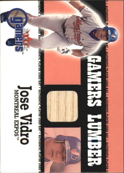 2000 Fleer Gamers Lumber #46 Jose Vidro