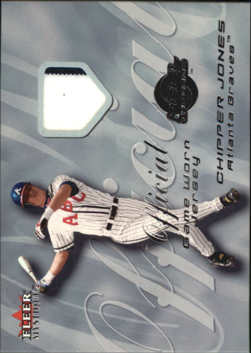 2000 Fleer Mystique Feel the Game #9 Chipper Jones Jsy