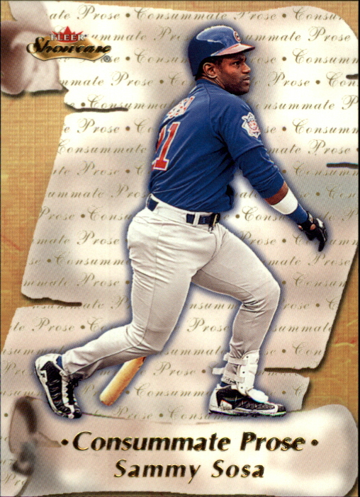 2000 Fleer Showcase Consummate Prose #CP7 Sammy Sosa