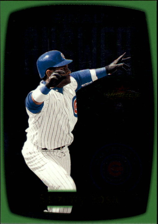 2000 Fleer Showcase Final Answer #FA4 Sammy Sosa