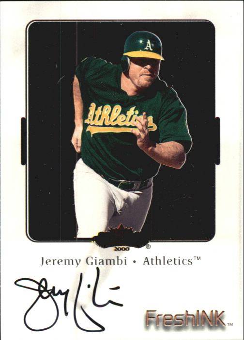2000 Fleer Showcase Fresh Ink #16 Jeremy Giambi