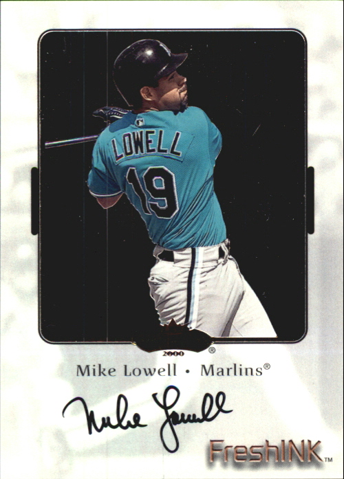 2000 Fleer Showcase Fresh Ink #25 Mike Lowell