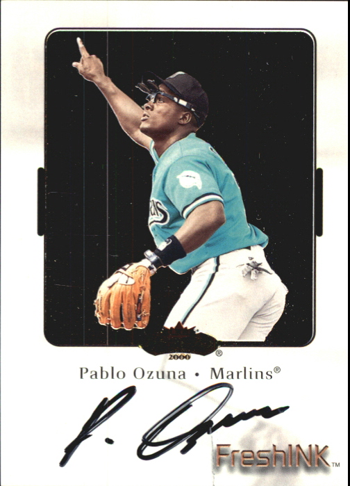 2000 Fleer Showcase Fresh Ink #30 Pablo Ozuna