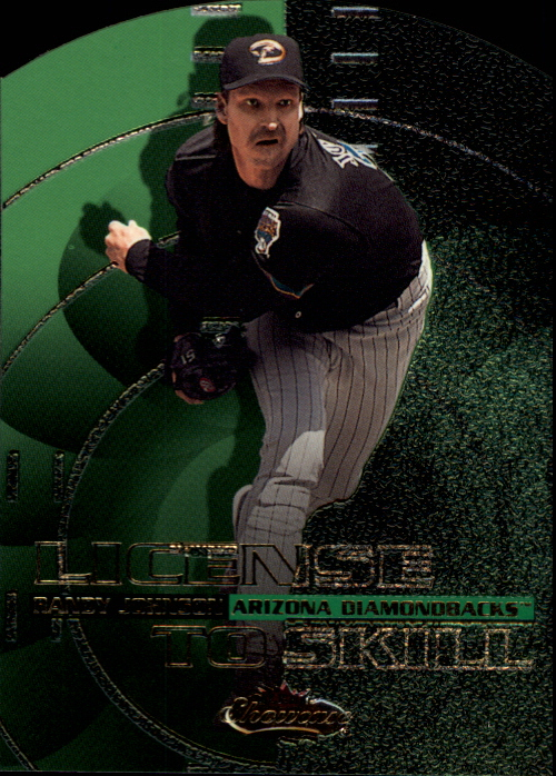 2000 Fleer Showcase License to Skill #LS8 Randy Johnson