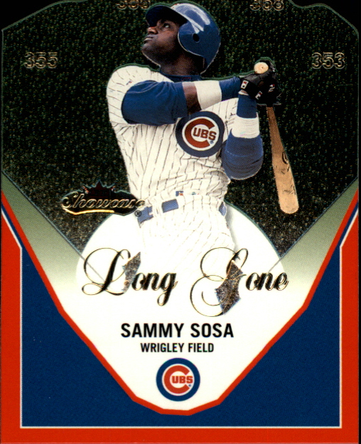 2000 Fleer Showcase Long Gone #LG1 Sammy Sosa