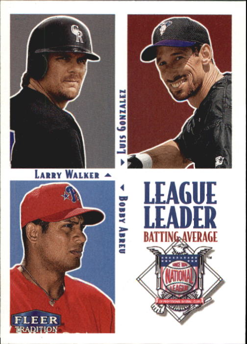 2000 Fleer Tradition #6 NL Avg LL