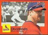 2000 Fleer Tradition Dividends #D13 Mark McGwire