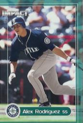 2000 Impact Genuine Coverage Batting Gloves #16 Alex Rodriguez