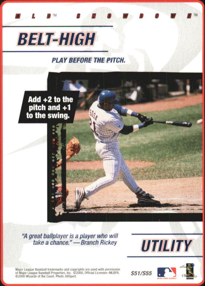 2000 MLB Showdown Strategy #S51 S.Sosa/Belt-High