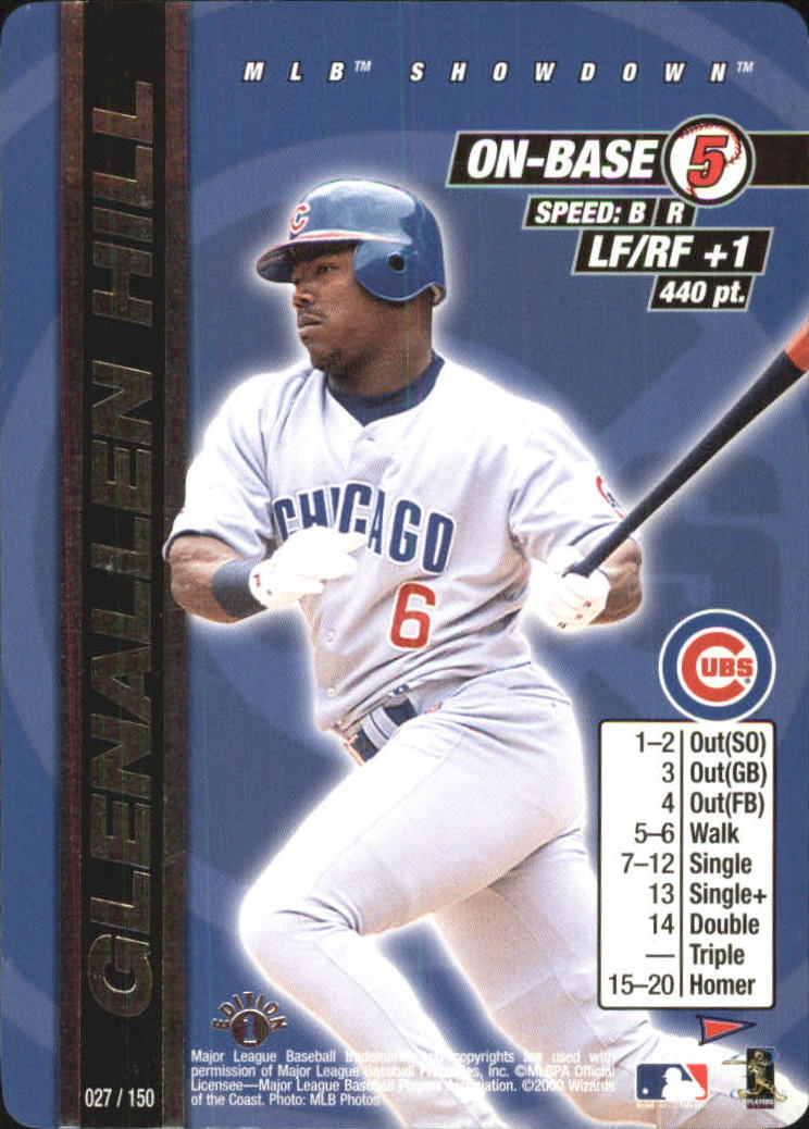 2000 MLB Showdown Pennant Run 1st Edition #27 Glenallen Hill