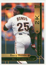 2000 Opening Day 2K #OD2 Barry Bonds TOPPS